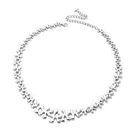 LucyQ Splash Necklace (Size 20) in Rhodium Overlay Sterling Silver, Silver wt 42.36 Gms