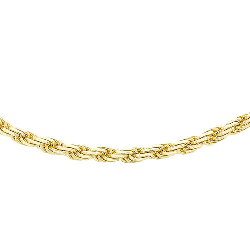 9K Yellow Gold Diamond Cut Rope Chain (Size 20), Gold wt 10.10 Gms
