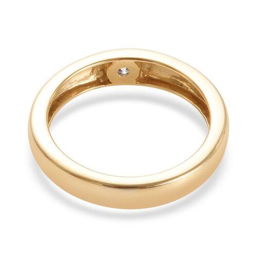 SGL Certified Designer Inspired 9K Y Gold Diamond (Rnd) (I1/G-H) Flush Set Ring