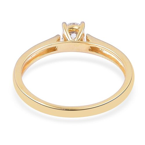ILIANA 0.25 Carat IGI Certified Diamond (SI/H) Solitaire Ring in 18K Gold