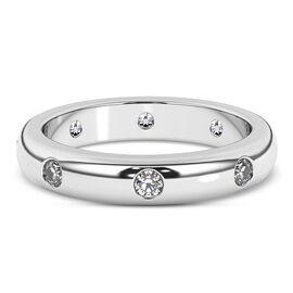 Web Exclusive RHAPSODY 950 Platinum IGI Certified Diamond (VS/E-F) Band Ring 0.50 Ct, Platinum wt 6.