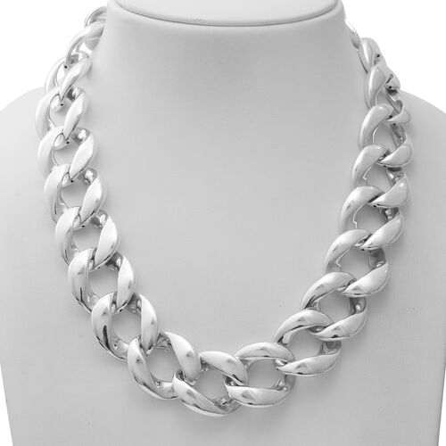 Sterling Silver Necklace (Size 20.5), Silver wt 63.00 Gms