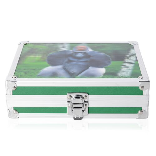 Green Colour 3D Gorilla Painting Jewellery Box (Size 20x15x6.2 Cm)
