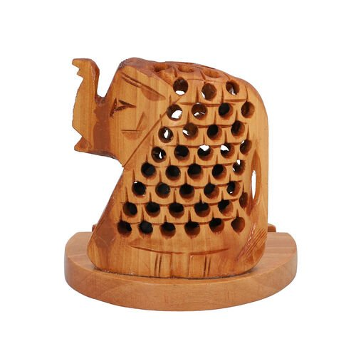 New Arrival- Hand Carved Wooden Mobile Phone Holder- Elephant