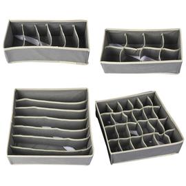 Set of 4 - Smart Storage Organisers - Beige
