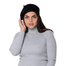 Solid Colour Winter Beret (Size 51 Cm) - Black