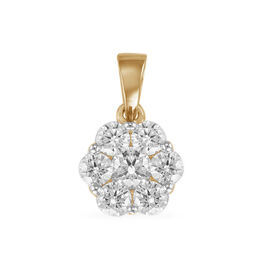 ILIANA 18K Yellow Gold IGI Certified Diamond (Rnd) (SI/G-H) Pendant 1.000  Ct.