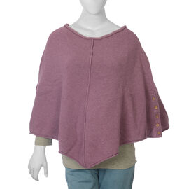Wool Purple Colour Poncho