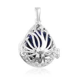 Lapis Lazuli Locket Pendant in Sterling Silver 9.000 Ct, Silver wt 4.14 Gms