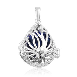 9 Carat Lapis Lazuli Locket Pendant in Sterling Silver 4.14 Grams