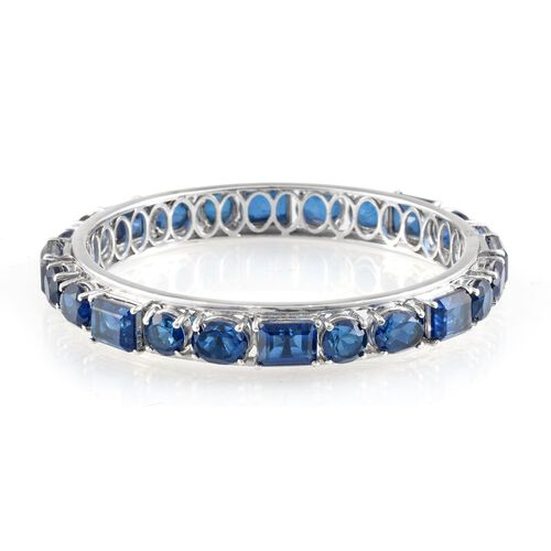 Ceylon Colour Quartz (Oct) Bangle (Size 7.5) in Platinum Overlay Sterling Silver 51.000 Ct.