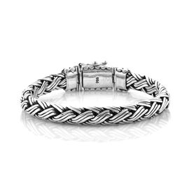 Royal Bali Collection Sterling Silver Striking Bracelet (Size 7), Silver wt 59.00 Gms.