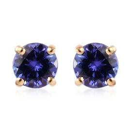 ILIANA 18K Yellow Gold AAA Tanzanite Stud Earrings (with Screw Back) 1.00 Ct.
