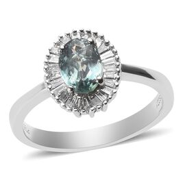 RHAPSODY 1 Carat AAAA Narsipatnam Alexandrite and Diamond Halo Ring in 950 Platinum VS EF
