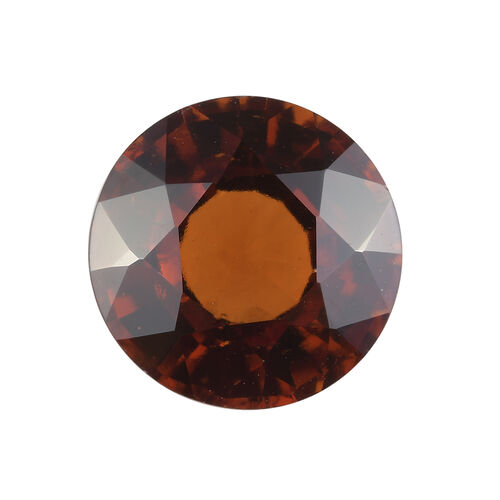 AAA Hessonite Garnet Round 11.80 Faceted 5.70 Cts