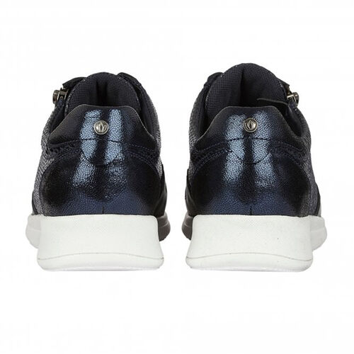 Lotus Stressless Navy Snake Leather Shira Casual Trainers (Size 5)