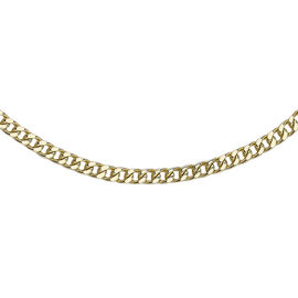 Square Spiga Chain Necklace in 9K Yellow Gold 18 Inch