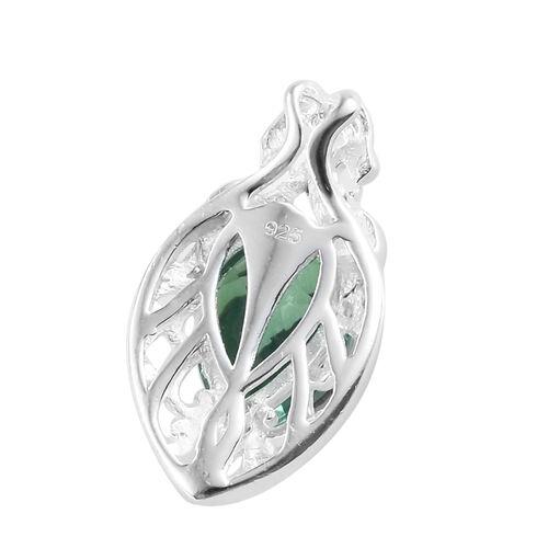 Peacock Quartz (Pear) Pendant in Sterling Silver 2.000 Ct.