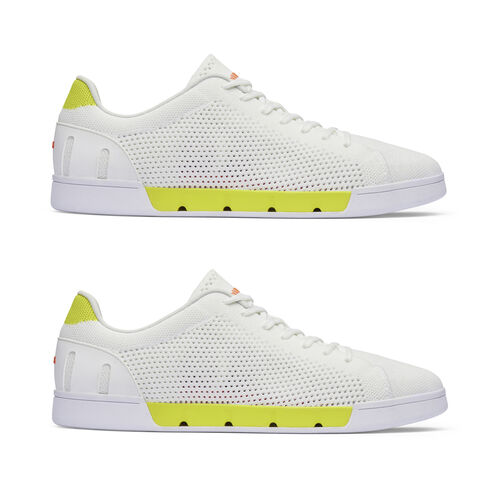Swims Breeze Tennis Knit Mens Trainer (Size 4) - White and Limeade