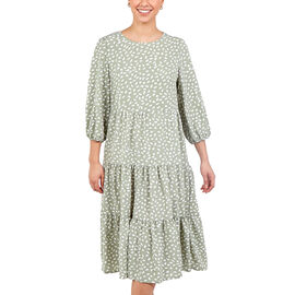NOVA OF LONDON Paneled Smock Dress - Sage