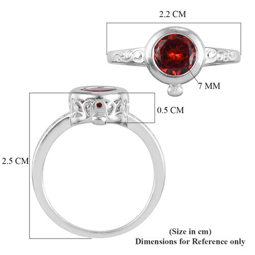 EPIC Friday Midnight Deal- Interchangeable Simulated Multi Colour Diamond Ring in Sterling Silver