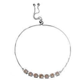 Citrine Adjustable Bracelet (Size 6 -11) in Sterling Silver 3.73 Ct.