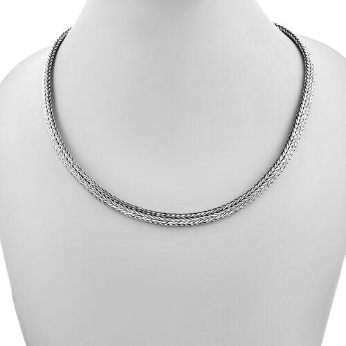 Royal Bali Collection - Sterling Silver Tulang Naga Necklace (Size 18), Silver wt 59.78 Gms