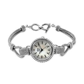Royal Bali Collection EON 1962 Water Resistant Tulang Naga Diamond Studded Bracelet Watch (Size 7.25