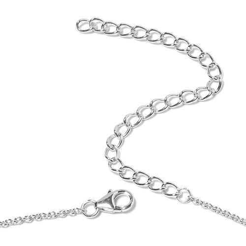 LucyQ - Rhodium Overlay Sterling Silver Drip Necklace (Size 16 with 4 inch Extender), Silver wt 17.10 Gms