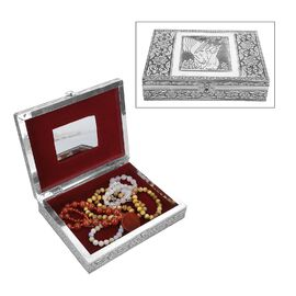 Limited Available- Embossed Collection Handcrafted Oxidised Jewellery Box with Mirror  (22.5X17.5X5