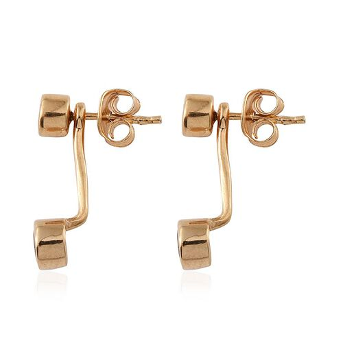 Bohemian Moldavite (Rnd) Earrings (with Push Back) in 14K Gold Overlay Sterling Silver 0.750 Ct.