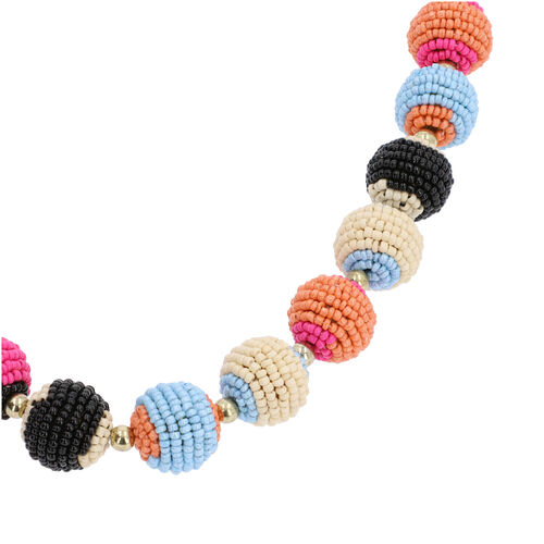 Long Multi Colour Beaded Necklace (Size 28 with Extender)