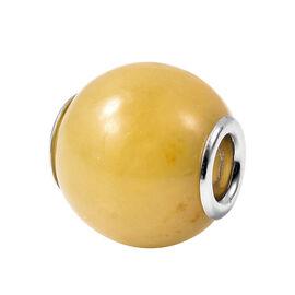 Charms De Memoire - Honey Jade Charm in Rhodium Overlay Sterling Silver 17.50 Ct.