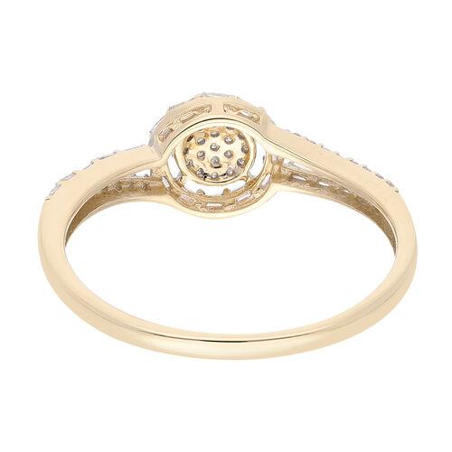 9K Yellow Gold SGL Certified Diamond (I3/G-H) Ring  0.250  Ct.