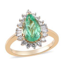 ILIANA 2.72 Ct AAA Boyaca Colombian Emerald and Diamond Halo Ring in 18K Gold 5.25 Grams SI GH