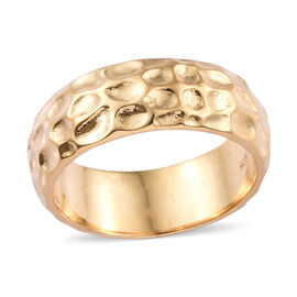 7mm Texture Band Ring in Gold Plated 925S Silver