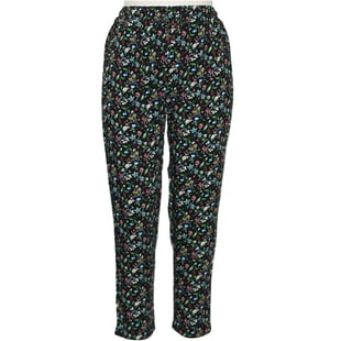 Pure and Natural Elasticated Printed Multicolour Trousers Length-25