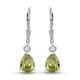 2.25 Ct Chinese Peridot Drop Solitaire Earrings in Sterling Silver With Lever Back