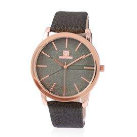 STRADA Japanese Movement Water Resistant Green Dail Watch With Black  Strap