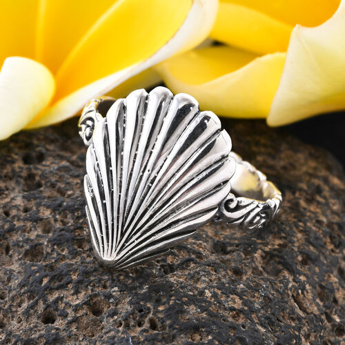 Royal Bali Adjustable Shell Ring in Sterling Silver