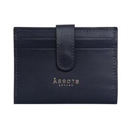 Assots London GROVE 100% Genuine Leather RFID Cardholder - Navy