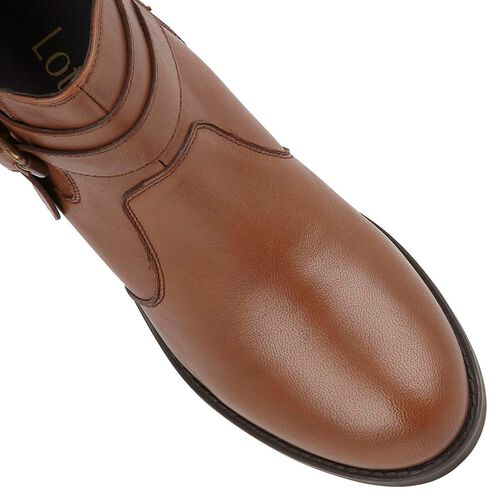 Lotus Tan Leather Janet Ankle Boots (Size 4)