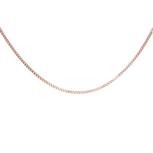 Super Auction- Close Out Deal- Rose Gold Overlay Sterling Silver Curb Necklace (Size 18)