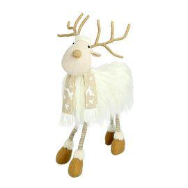 Christmas Decoration - White Reindeer (Size 50cm)