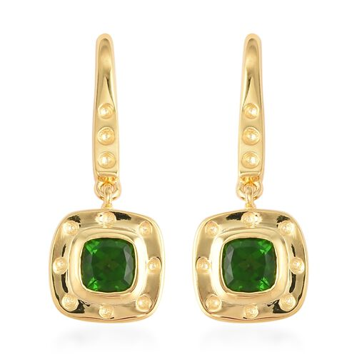 Rachel Galley 1.28 Ct Carat Russian Diopside and Burmese Ruby Drop Earrings in Gold Plated Silver