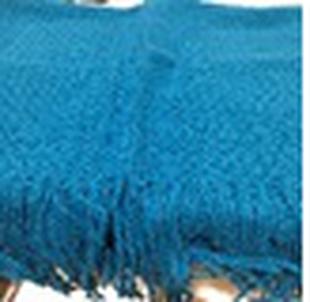 FIORUCCI Blue Knitted Scarf (Size 170x40cm)