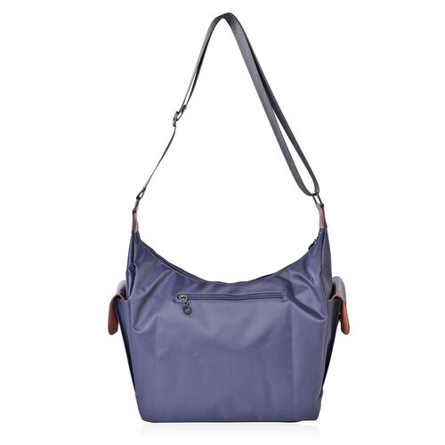 Dark Grey Colour Crossbody Bag with External Pocket and Adjustable Shoulder Strap (Size 38x27x24x13 Cm)
