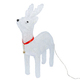 Reindeer Decorative Lamp with Multicolour Light (Size 40x27 Cm) - White