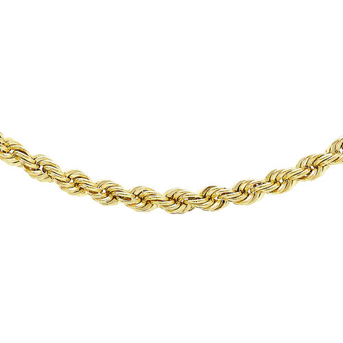 Italian Made - 9K Yellow Gold Rope Chain, Gold Wt. 4.00 Gms (Size - 18inch)