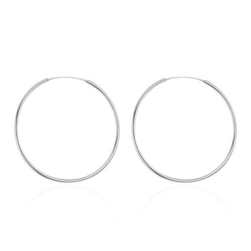 Sterling Silver Hoop Earrings (with Clasp Lock)